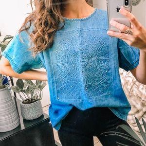VTG Zodiac studded denim Tee Shirt